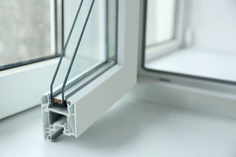 Interior de una ventana PVC.