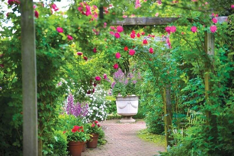 Jardín de estilo inglés.
