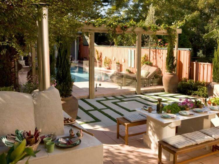 Jardín de estilo italiano.