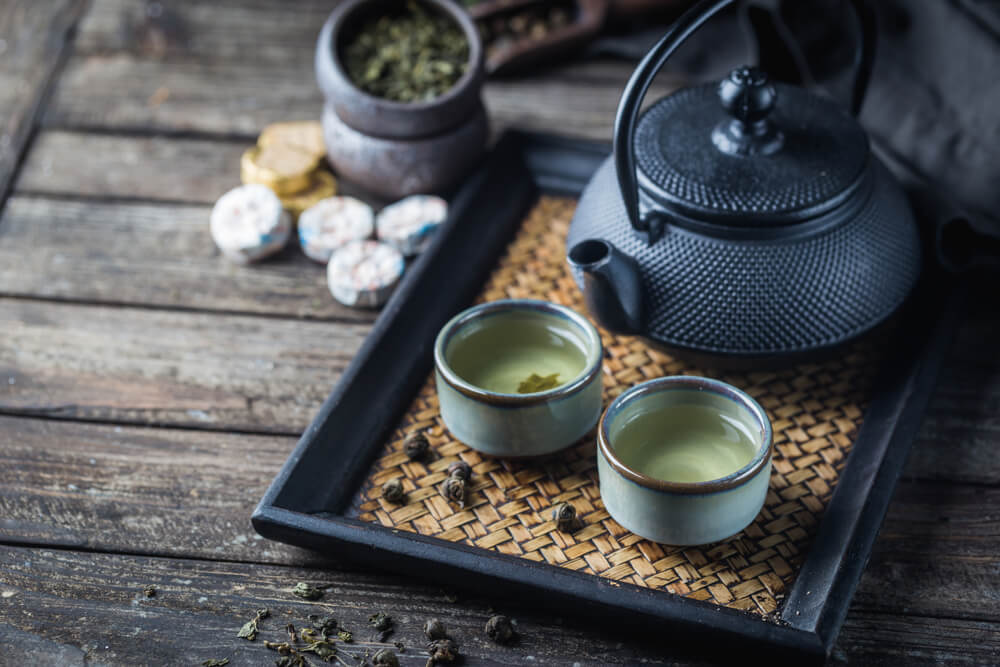Juego de té japonés.