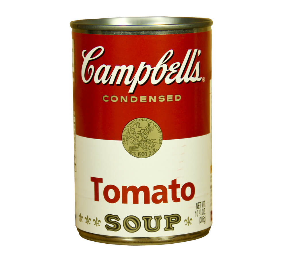 Lata de tomate Campbell's.