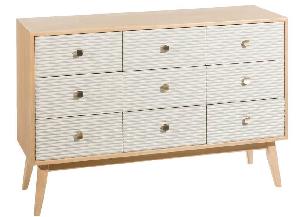 Mueble escandinavo de madera.