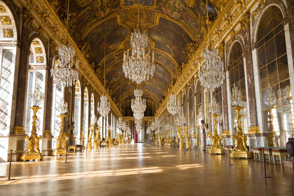 Salón de los espejos del Palacio de Versalles.