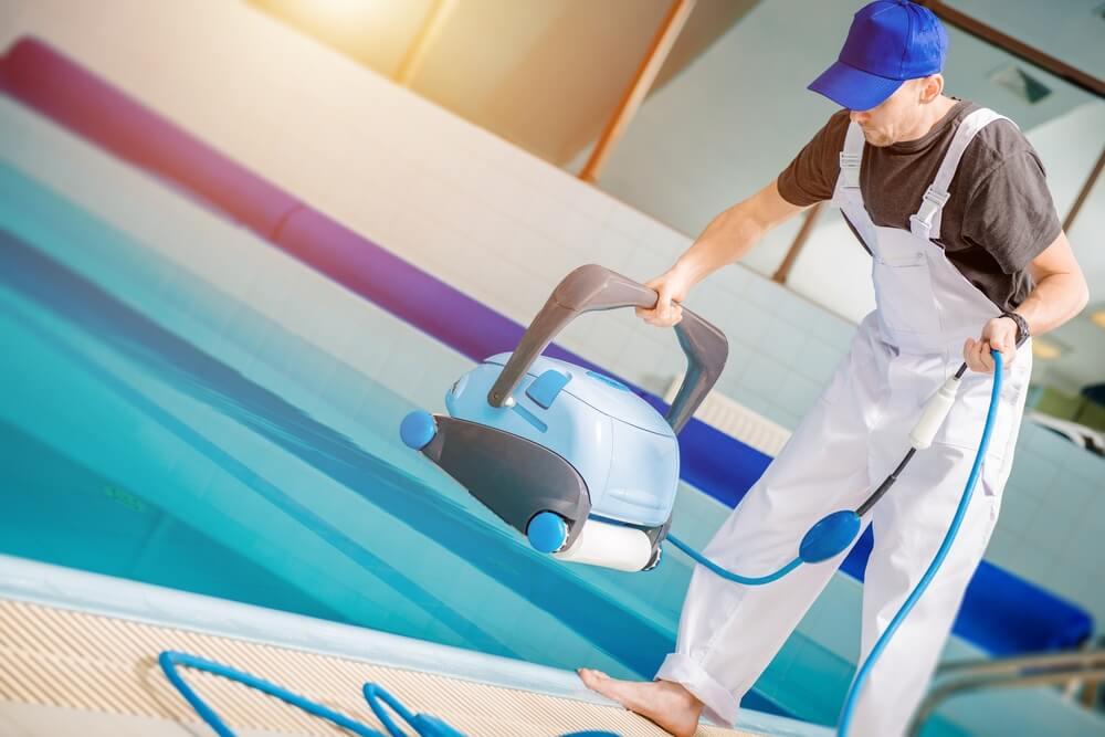 Robot limpia piscinas.