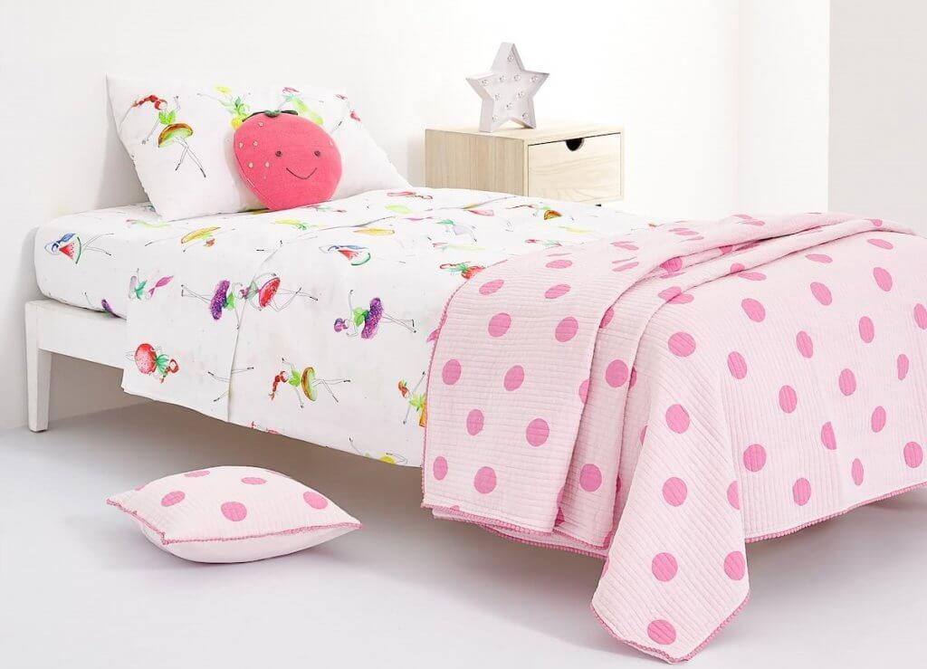 Ropa de cama infantil.