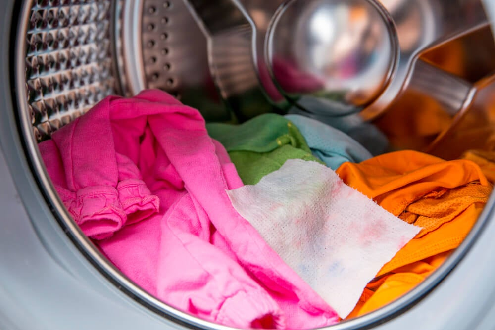 Separate clothes before putting them in the washer.