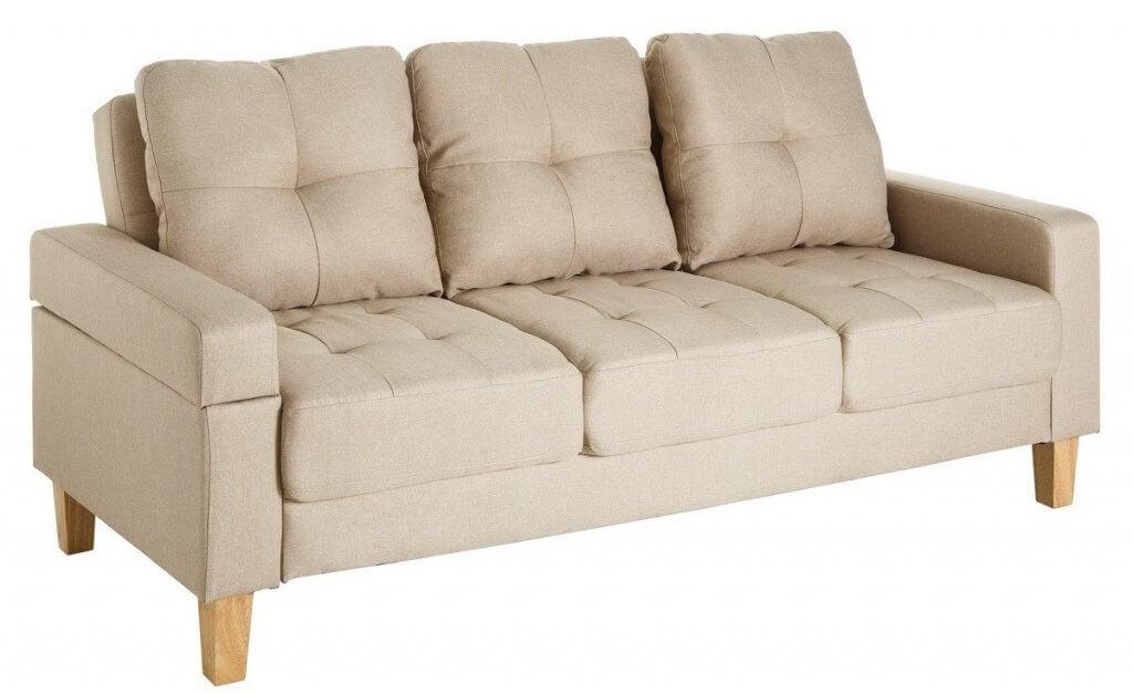 Sofá-cama escandinavo.