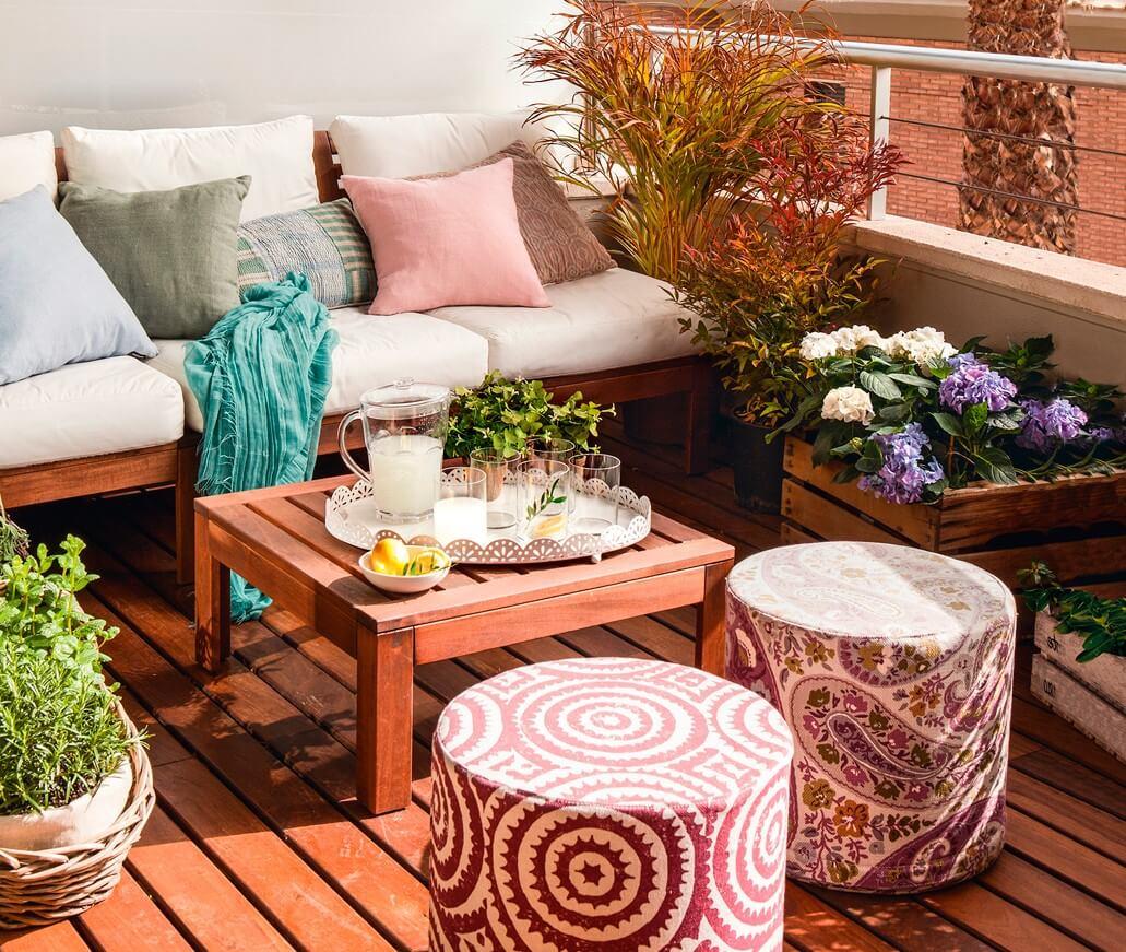 Taburetes para una terraza pequeña de apartamento