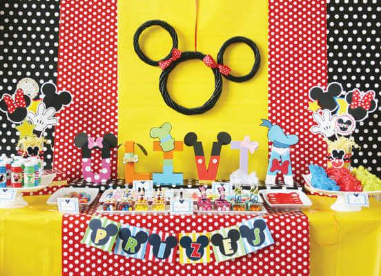 Temática Disney para cumpleaños infantiles