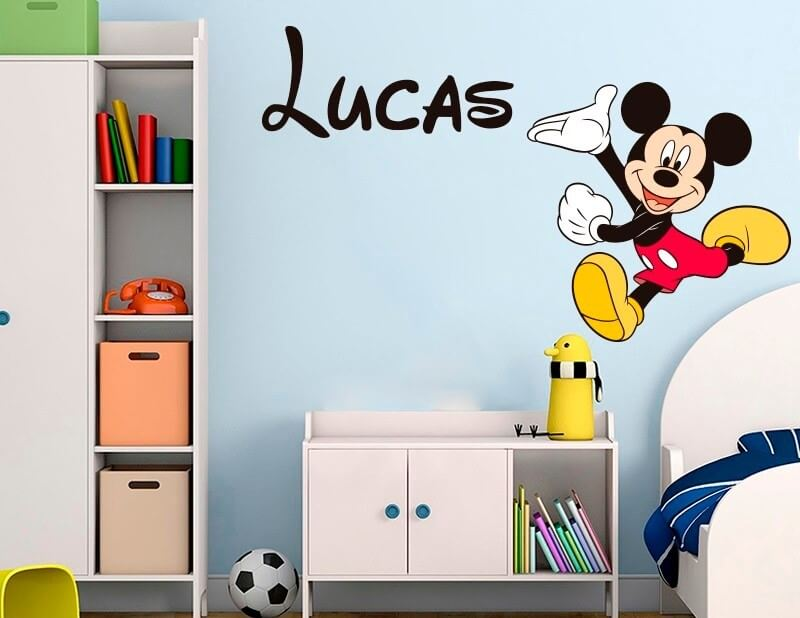 Mickey Mouse vinyl decals.