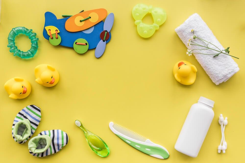 Accesorios para el aseo de los niños.