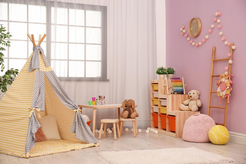 Accesorios de habitaciones infantiles.