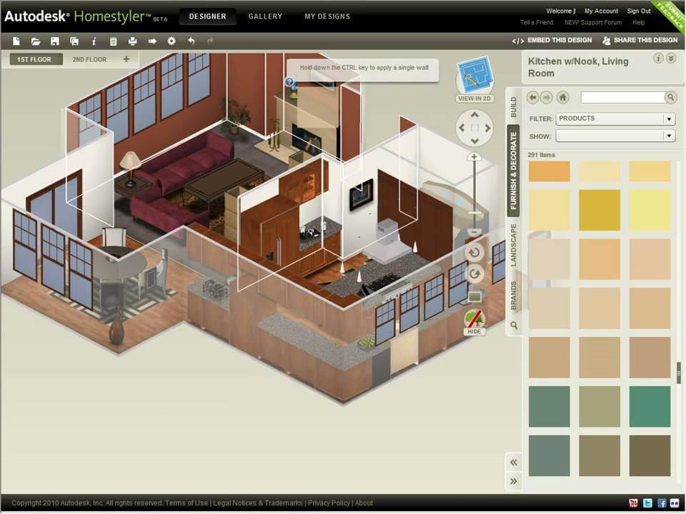 Autodesk Homestyler.