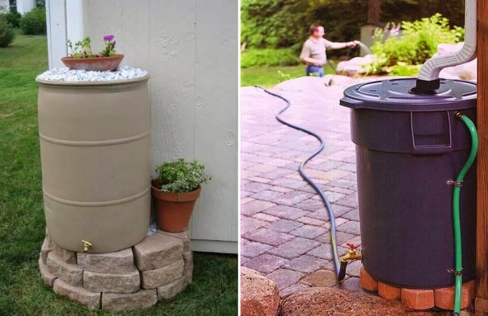Colectores de agua de lluvia.