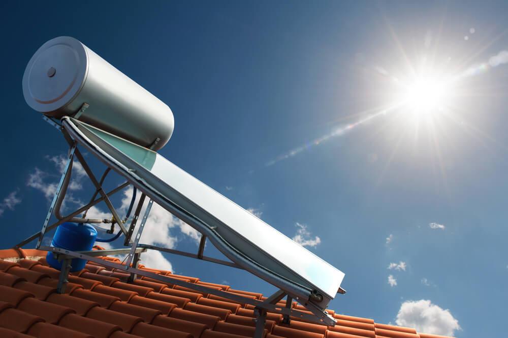Calentador de agua solar.
