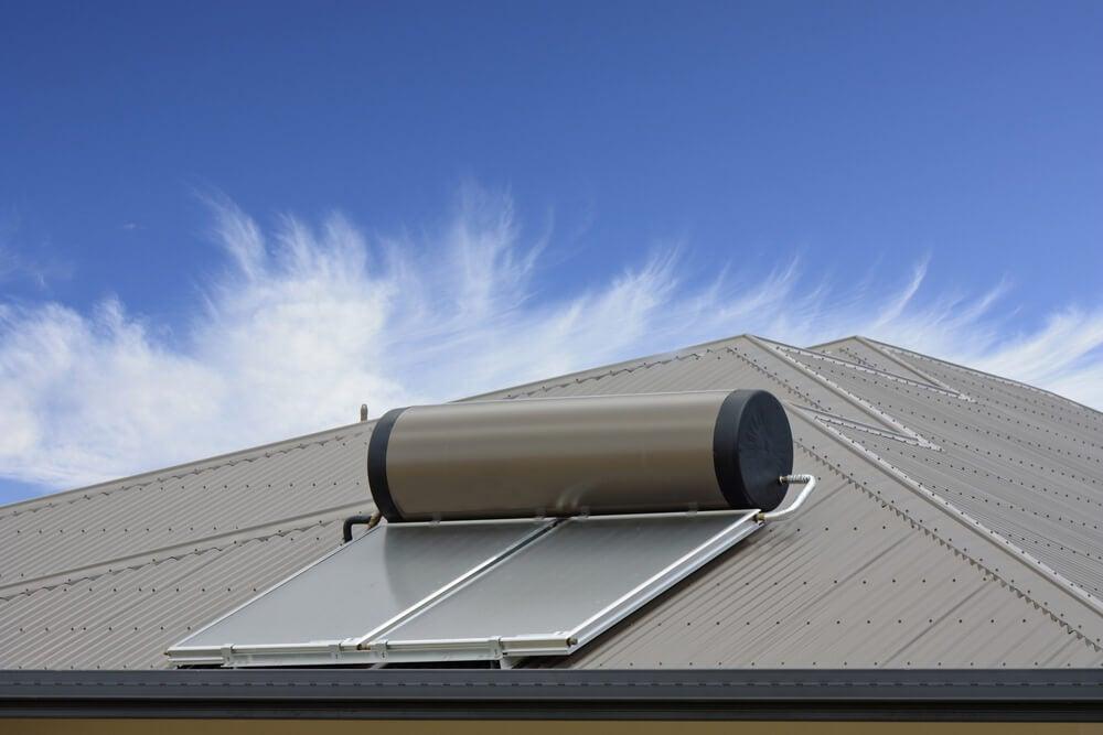 Calentador de energía solar.