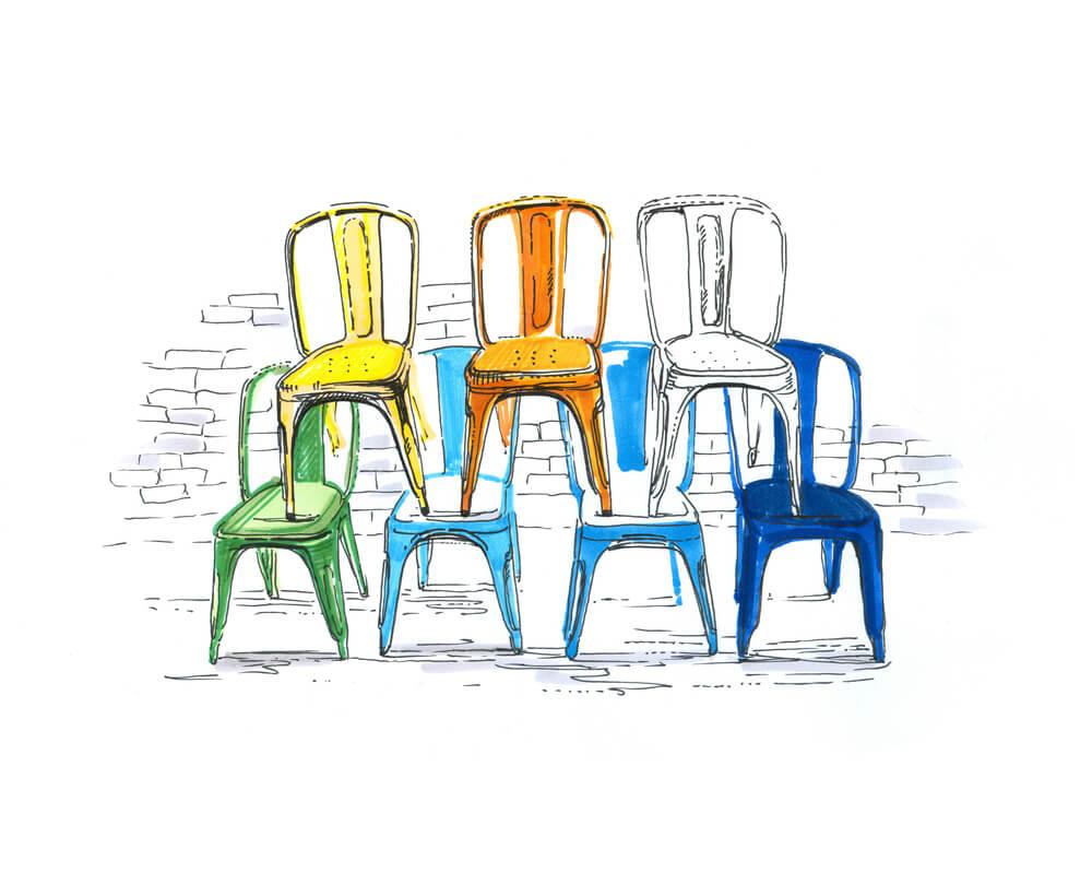 Características de las sillas Tolix.