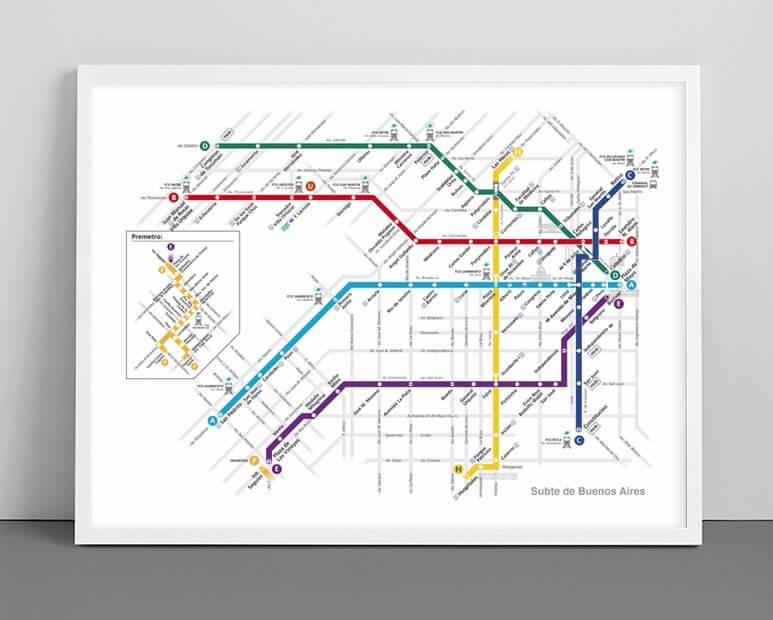 Mapa de metro.