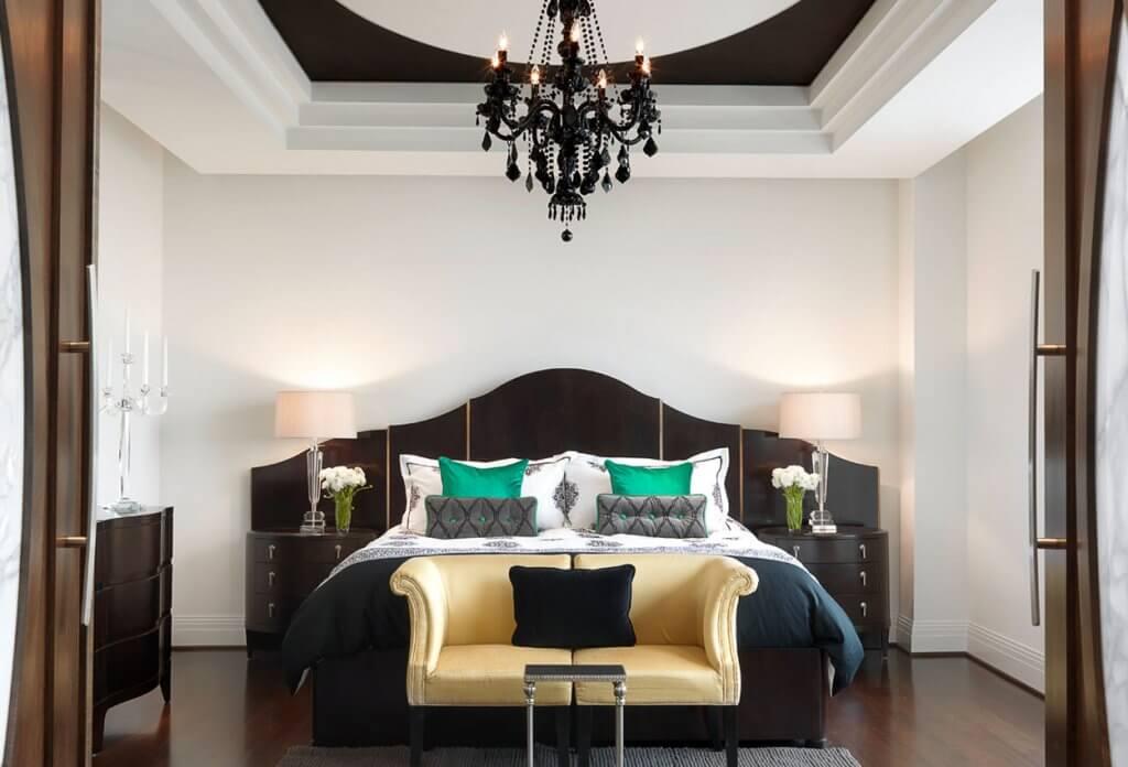 Dormitorio decorado por Edwin Pepper.