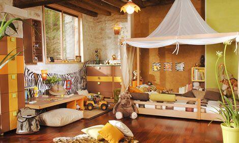 Dormitorio safari.