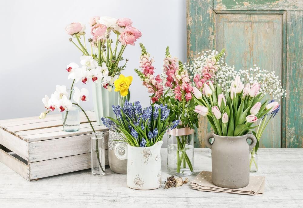 Elementos para decorar con flores.