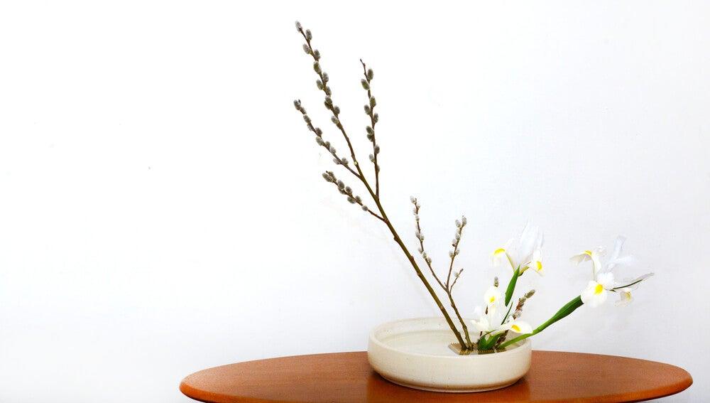 Ikebana hana simple.