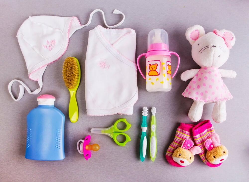 Objetos de bebé.