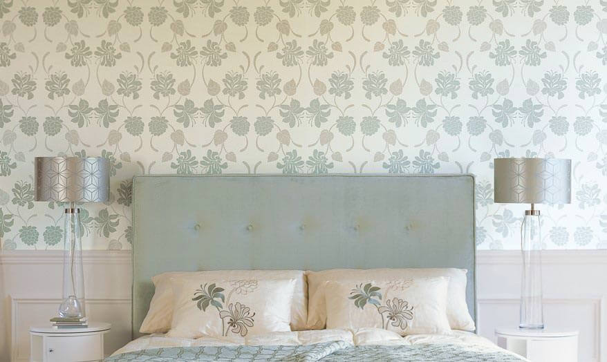 Papel pintado del dormitorio.