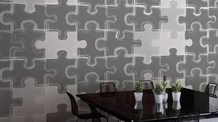 Pared de puzzle.
