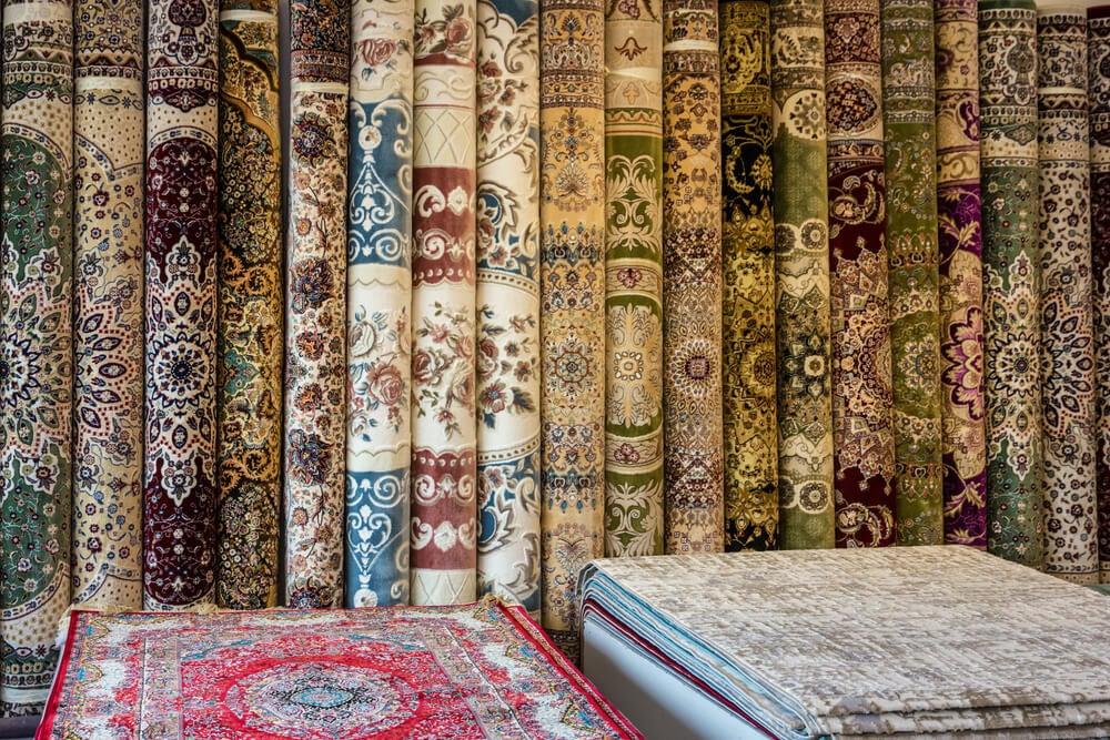 Alfombras de algodón de tipo Damasco.