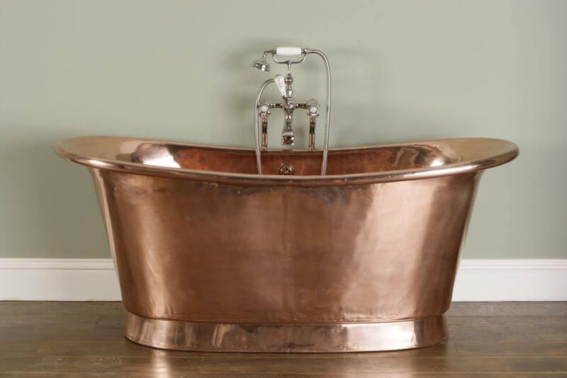 Bañera vintage de cobre.