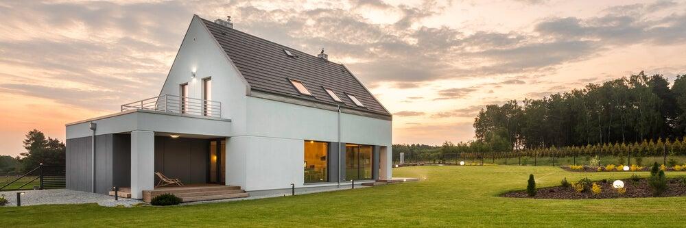Casa con un paisaje exterior.