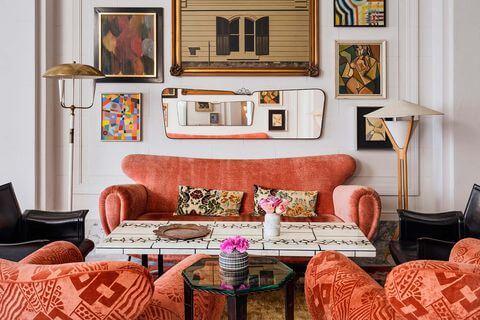 Colores pastel de Kelly Wearstler.