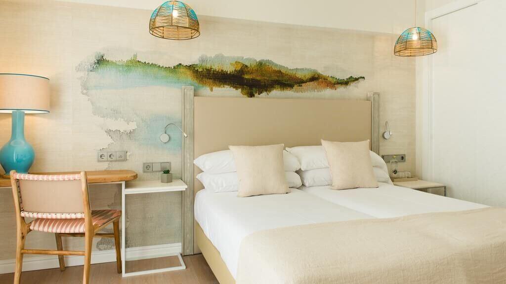Dormitorio del hotel Honucai.