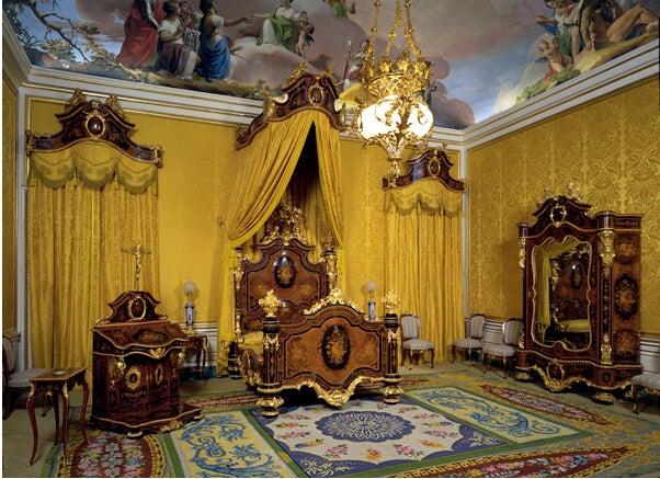 Dormitorio de Isabel II del Palacio de Aranjuez.