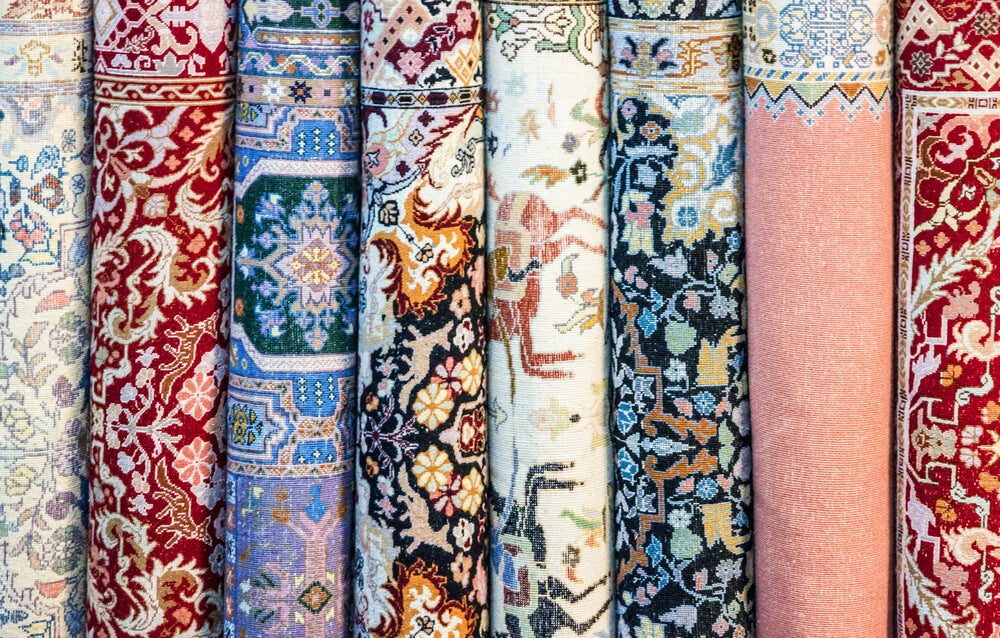 Estampados de tipo Damasco para las alfombras