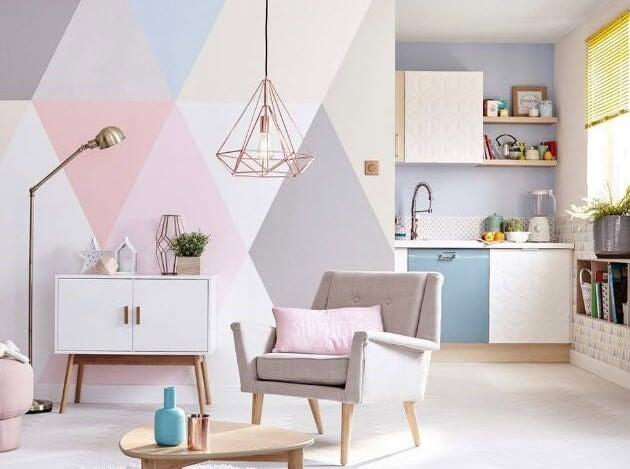Geometría para decorar paredes.