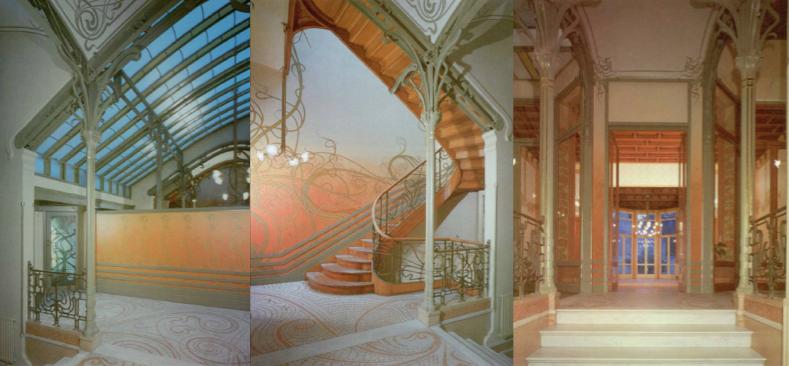 Interior de la Casa Tassel.