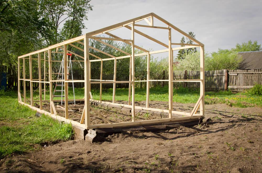 Invernadero de madera.