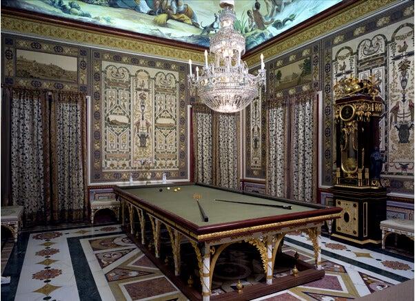 Sala de billar del Palacio de Aranjuez.