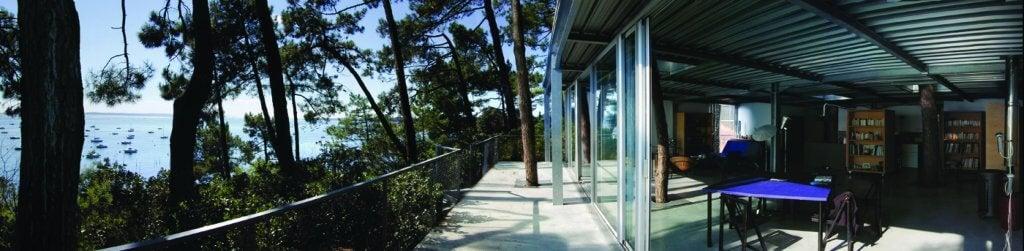 Terraza de la casa Cap Ferret.