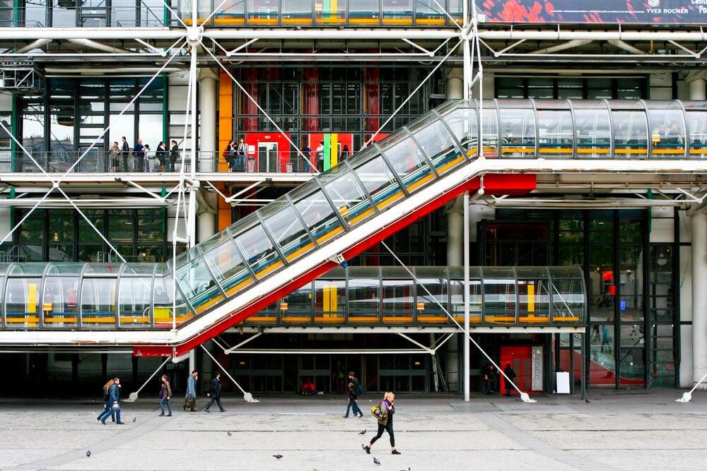 Aspectos estéticos del Centro Pompidou.