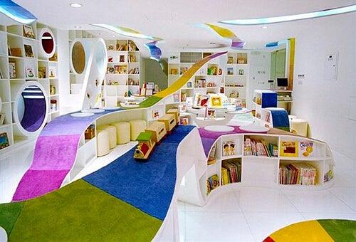 Bibliotecas infantiles que te sorprenderán