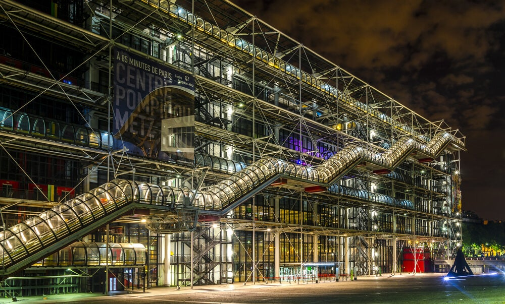 La arquitectura del Centro Pompidou