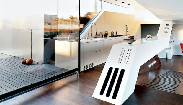 Cocina futurista.