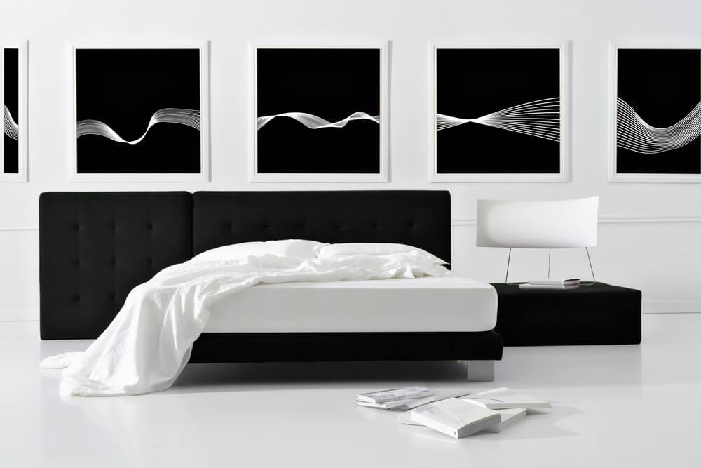 Dormitorio futurista.