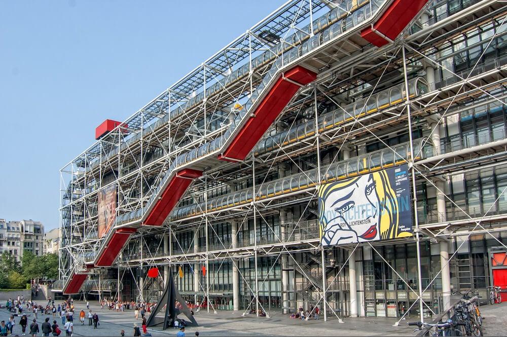 Exterior del Centro Pompidou.