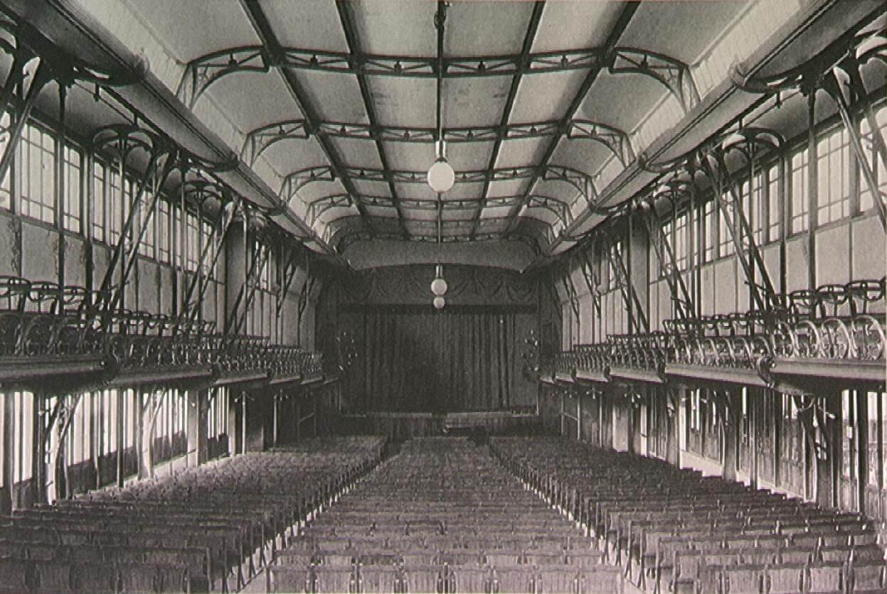 Interior de la Casa del Pueblo.