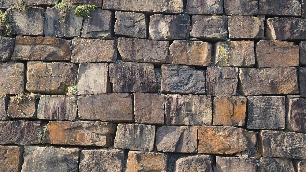 Muro de mampostería.
