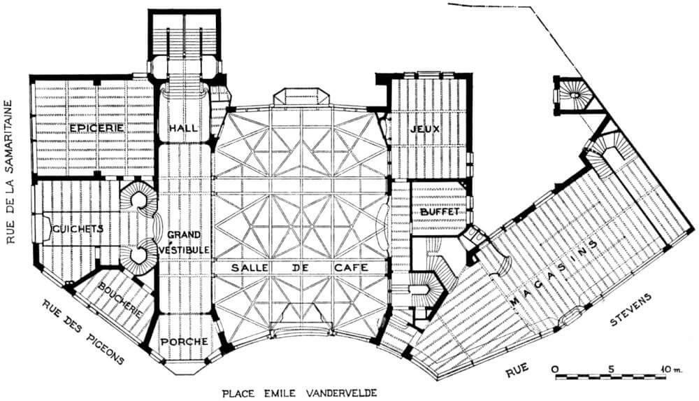 Plano de la Casa del Pueblo.